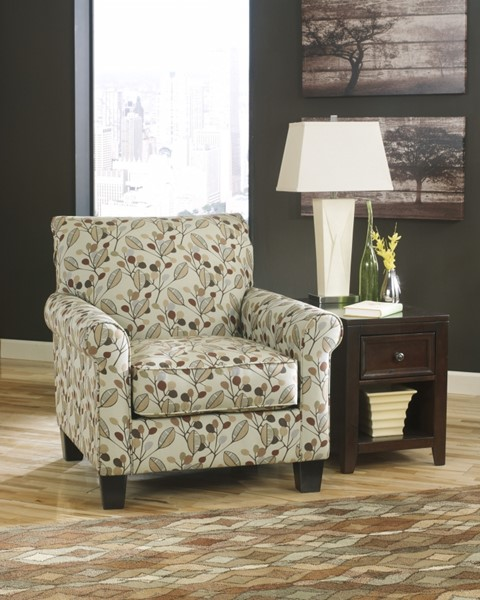 Danely Contemporary Dusk Wood Fabric Accent Chair 3550021