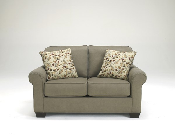 Danely Contemporary Dusk Wood Fabric Loveseat 3550035