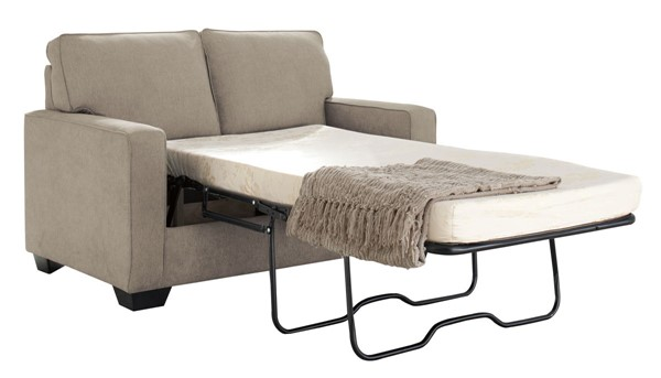 Zeb Contemporary Quartz Fabric Wood Twin Sofa Sleeper 3590237