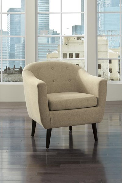 Klorey Contemporary Khaki Tufted Back Accent Chair 3620621