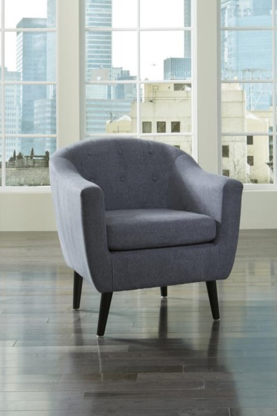 Klorey Contemporary Denim Tufted Back Accent Chair 3620721