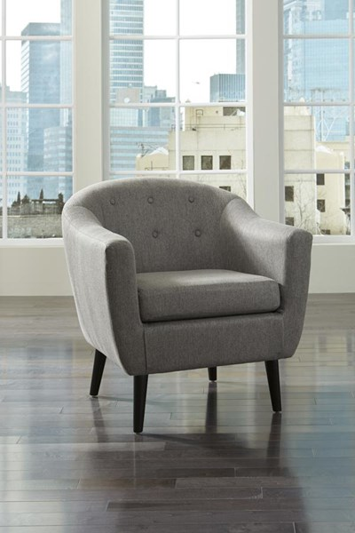 Klorey Contemporary Charcoal Accent Chair 3620821
