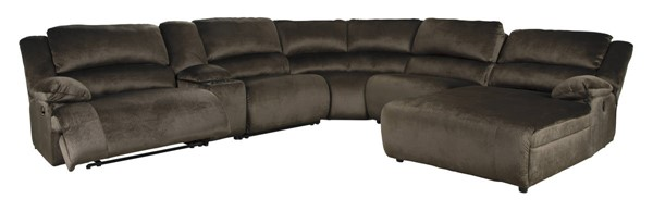 Ashley Furniture Clonmel Chocolate 6pc RAF Sectional 36504-SEC1