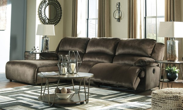 Ashley Furniture Clonmel Chocolate 3pc LAF Sectional 36504-SEC15