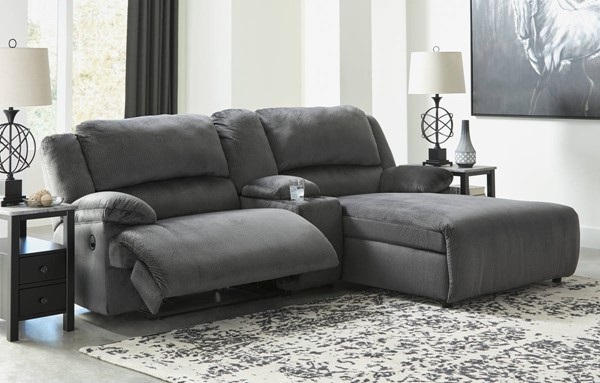 Ashley Furniture Clonmel 3pc Power RAF Sectionals With Console 3650X-SEC-VAR12