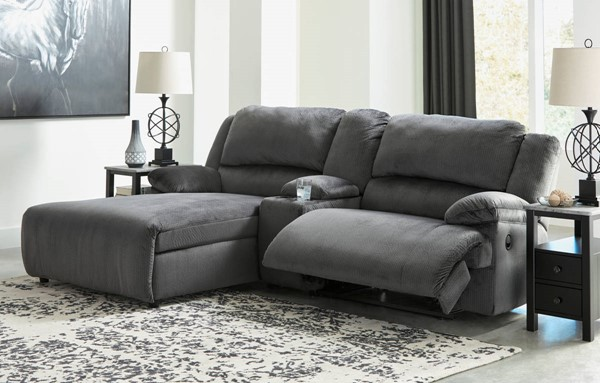 Ashley Furniture Clonmel 3pc Power LAF Sectionals With Console 3650X-SEC-VAR16