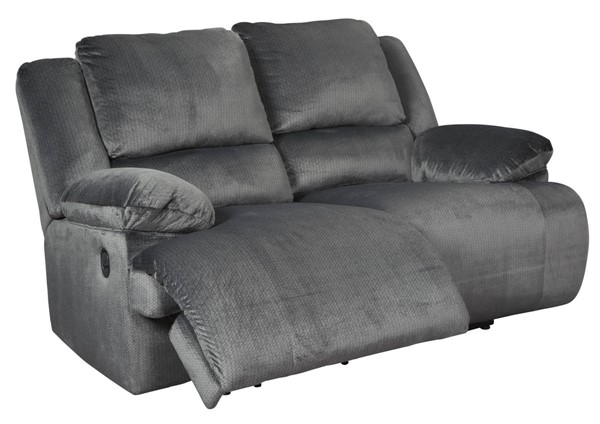 Ashley Furniture Clonmel Charcoal Reclining Loveseat 3650586
