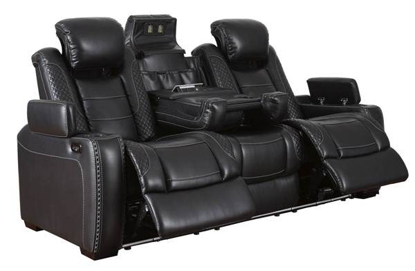 Ashley Furniture Party Time Midnight Power Reclining Sofa
