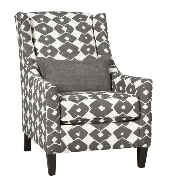 Brace Contemporary Granite Fabric Solid Wood Accent Chair 3770221
