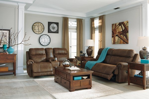 Austere Contemporary Brown Gray Living Room Set 3840-LR