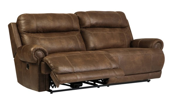 Ashley Furniture Austere Brown 2 Seat Reclining Power Sofa 3840047