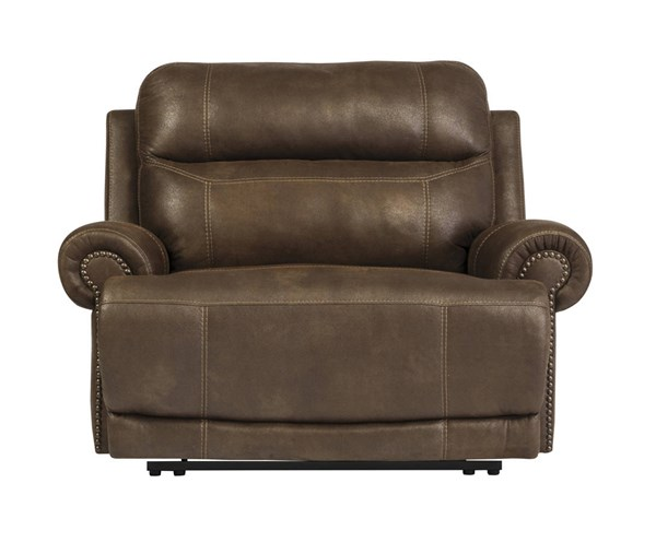 Austere Contemporary Brown Zero Wall Recliner 3840052