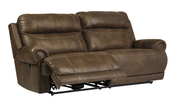 Ashley Furniture Austere Brown 2 Seat Reclining Sofa 3840081