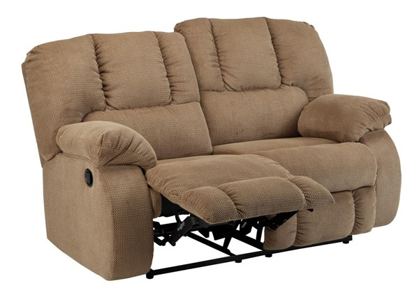 Roan Contemporary Mocha Reclining Loveseat 3860286