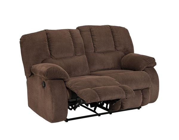 Roan Contemporary Cocoa Reclining Loveseat 3860486