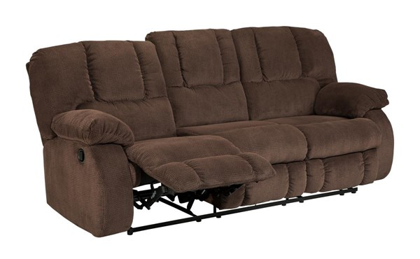 Roan Contemporary Cocoa Cushion Back Reclining Sofa 3860488