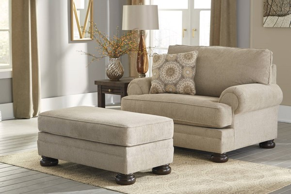 Quarry Hill Traditional Quartz Fabric Solid Wood Chair & Ottomans Set 38701-CHO