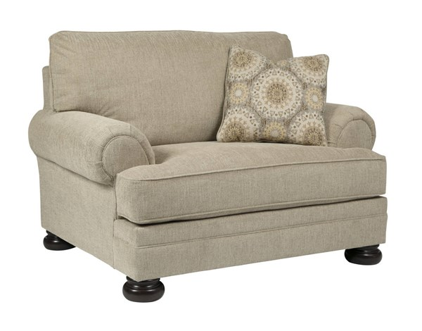 Quarry Hill Traditional Quartz Fabric Solid Wood Chair And A Half 3870123