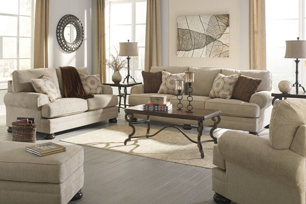 Quarry Hill Traditional Quartz Fabric Solid Wood 3pc Living Room Set 38701-LR-CH-S1