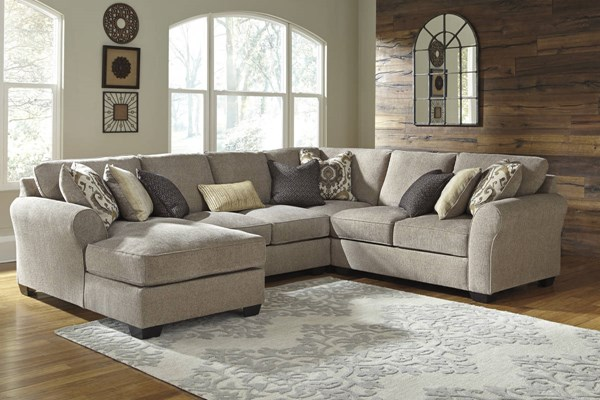 Pantomine Contemporary Driftwood Fabric Sectional W/LAF Corner Chaise 39102-SEC-S6