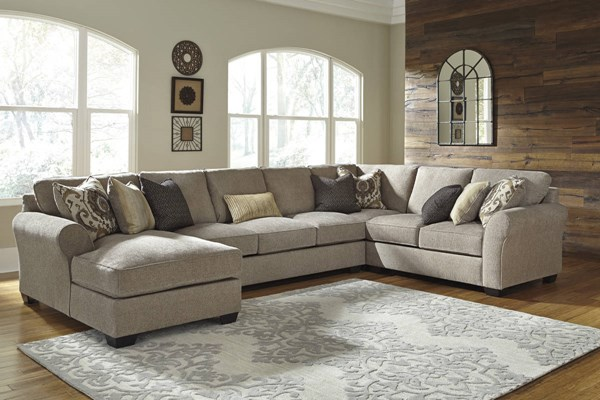 Pantomine Contemporary Driftwood Fabric Sectional W/RAF Loveseat 39102-SEC-S7