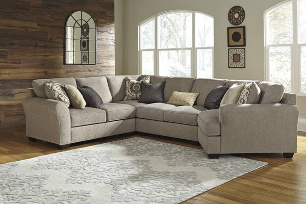 Pantomine Driftwood Fabric Sectional W/LAF Loveseat 39102-SEC-S9