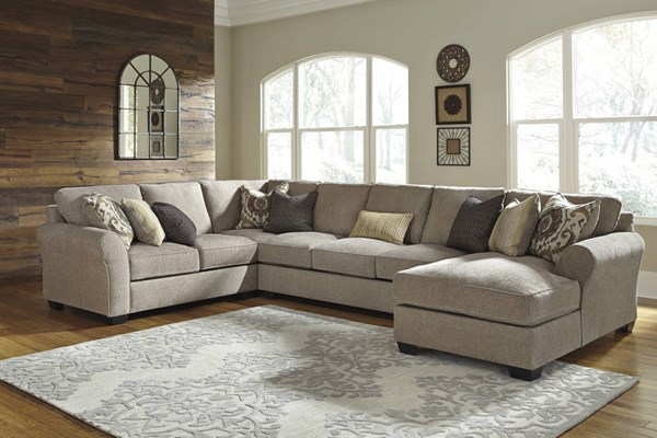 Pantomine Contemporary Driftwood Fabric Sectional W/RAF Corner Chaise 39102-SEC-S10