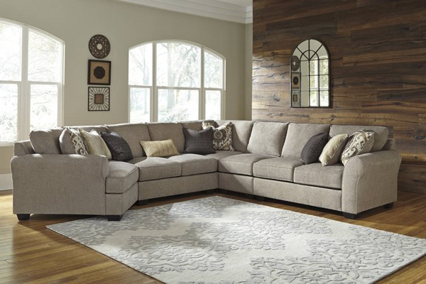Pantomine Driftwood Fabric Sectional W/LAF Cuddler 39102-SEC-S11