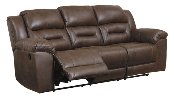 Ashley Furniture Stoneland Chocolate Reclining Sofa 3990488