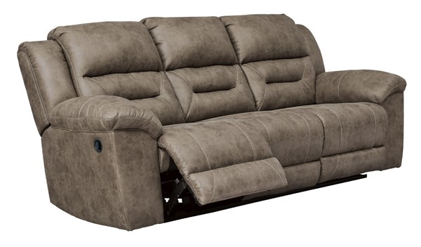 Ashley Furniture Stoneland Fossil Reclining Sofa 3990588