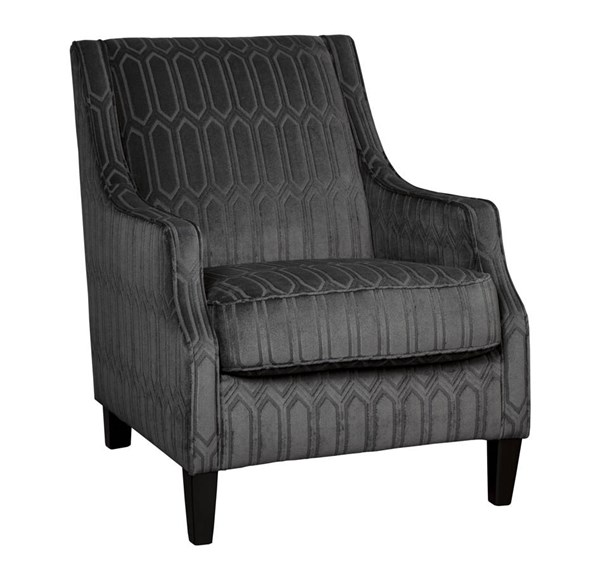Entwine Contemporary Graphite Fabric Accent Chair 4010121