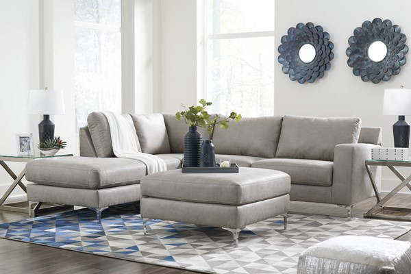 Ashley Furniture Ryler Steel LAF Sectionals With Ottomans 4020-SEC4-VAR