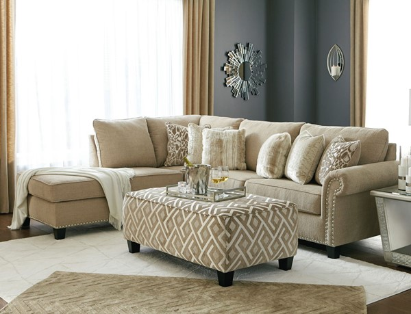 Ashley Furniture Dovemont Putty Chaise Sectional With Ottomans 40401-SEC-S-VAR