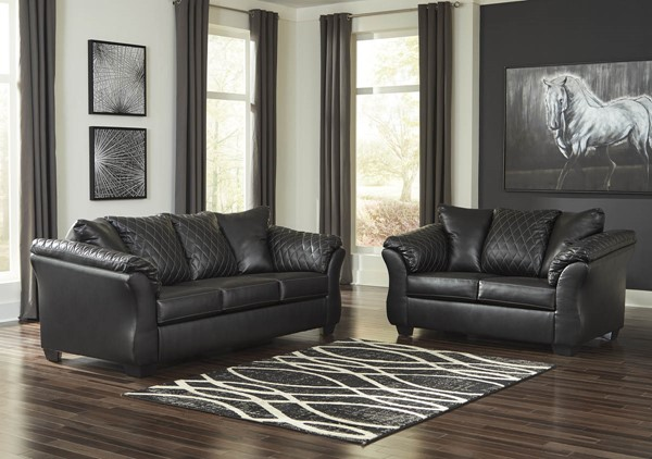 Ashley Furniture Betrillo Black PU 2pc Living Room Sets 405023-LR-S-VAR