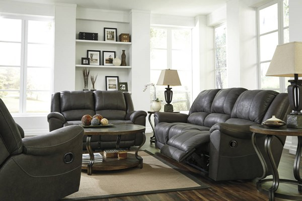 Niarobi Contemporary Gray Alloy Polyester 3pc Living Room Set 40600-LR-S1