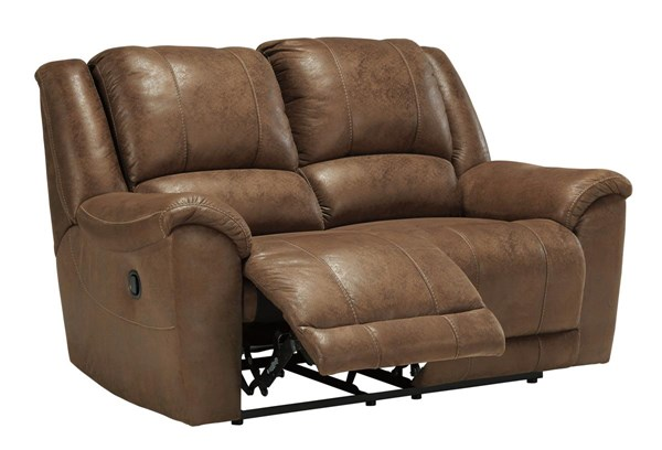 Niarobi Contemporary Saddle Reclining Loveseat 4060186