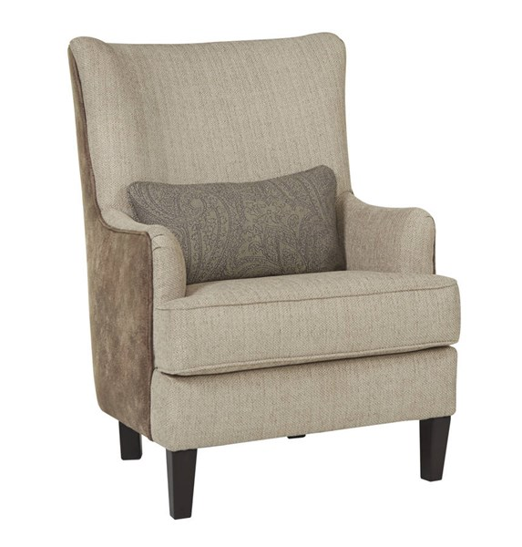 Baxley Casual Jute Fabric Wood Accent Chair 4110121