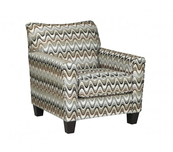 Gayler Contemporary Black White Fabric Accent Chair 4120121