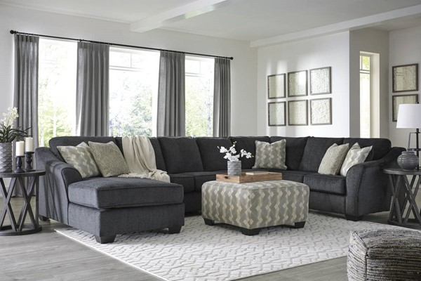 Ashley Furniture Eltmann Slate 5pc Laf Sectional With Ottoman The Classy Home