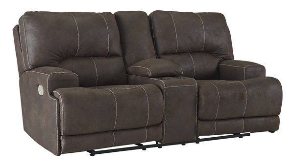 Ashley Furniture Kitching Power Headrest Reclining Loveseat With Console 4160418