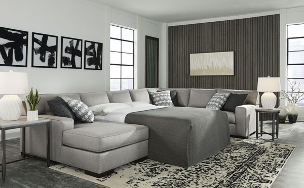 Ashley Furniture Marsing Nuvella Slate 4pc Sectional With Sofa Sleepers 41902-SEC-S-VAR