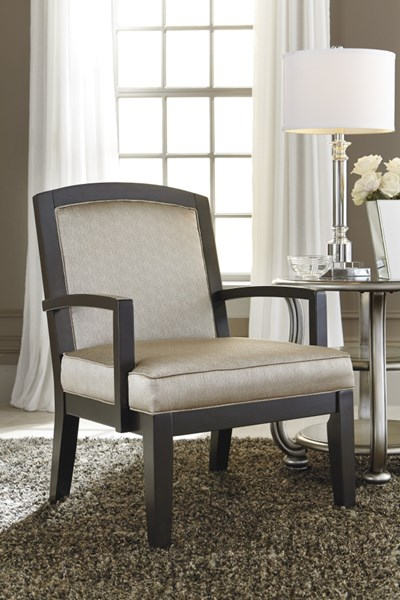 Lemoore Old World Fog Solid Back Accent Chair 4270060