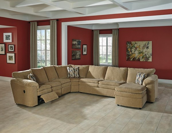 Coats Contemporary Dune 5pc Sectional w/RAF Corner Chaise 44100-SEC16