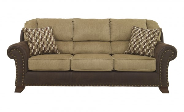 Vandive Contemporary Sand Fabric Nailheads Sofa 4430038