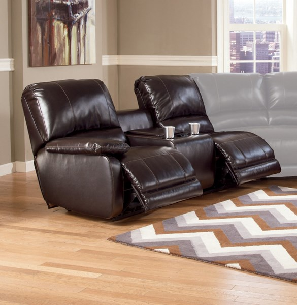 Capote DuraBlend Chocolate Laf Dbl Rec Pwr Con Loveseat 4450001