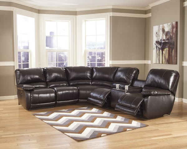 Capote DuraBlend Chocolate Left Facing Sectional  445000-S