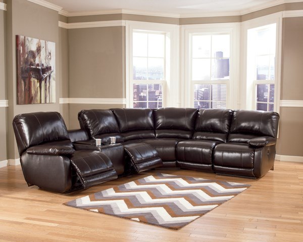 Capote DuraBlend Chocolate Right Facing Sectional  445000-S1