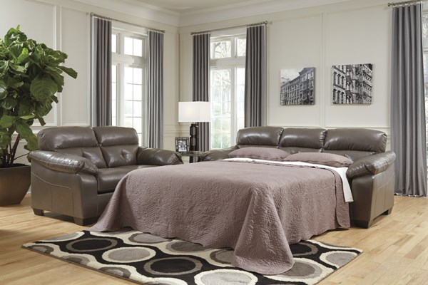 Bastrop DuraBlend Contemporary PVC Fabric Full Sofa Sleeper 4460036-VAR