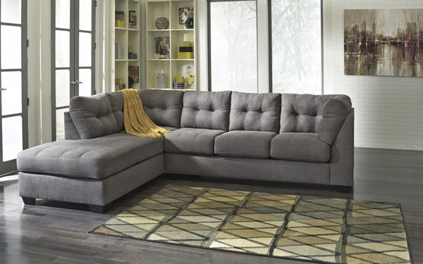 Maier Contemporary Charcoal Fabric Sectionals 4520-SEC-VAR