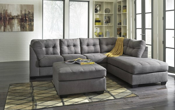 Ashley Furniture Maier RAF Chaise and Ottoman Sectionals 452000-SEC4-VAR